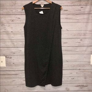 J Crew gray sleeveless dress size Large